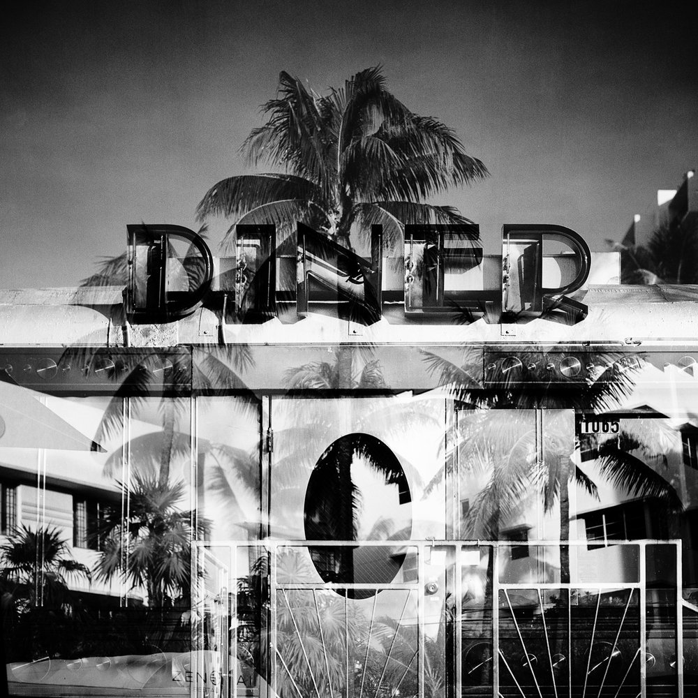 "Miami Dine  12""x12"" Black & White C-Print - $200 - Edition of 25 24""x24"" Black & White C-Print - $500 - Edition of 20"