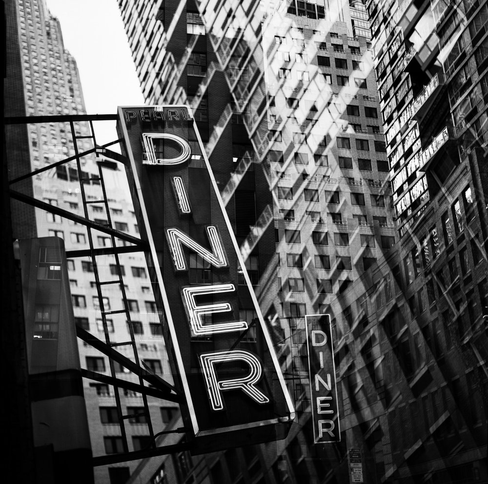 "New York 9-5  12""x12"" Black & White C-Print - $200 - Edition of 25 24""x24"" Black & White C-Print - $500 - Edition of 20"