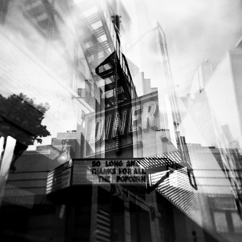 "Show's Over, Exit Skyward  12""x12"" Black & White C-Print - $200 - Edition of 25 24""x24"" Black & White C-Print - $500 - Edition of 20"