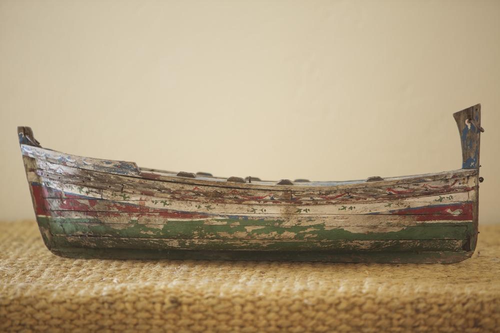 Vintage Wooden Boat $25