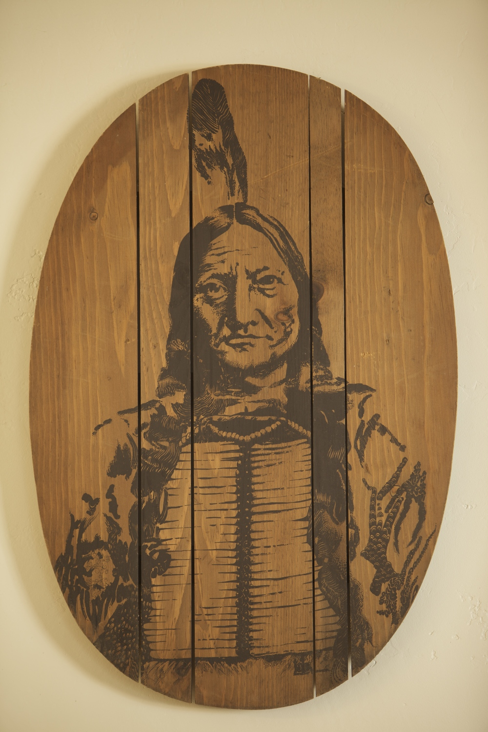 Wooden Chief Portrait $25