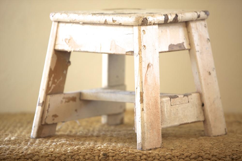 Vintage Wood Stool $15