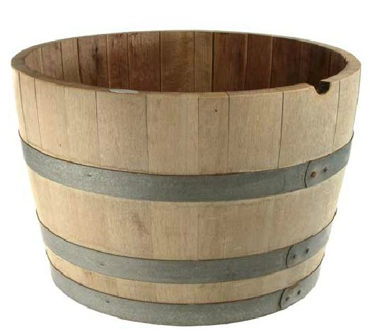 Half Wine Barrel $30