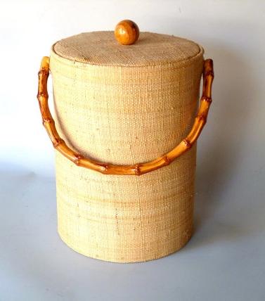 MCM Bamboo Ice Bucket $15