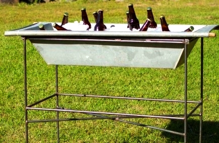 galvanized beverage trough $60