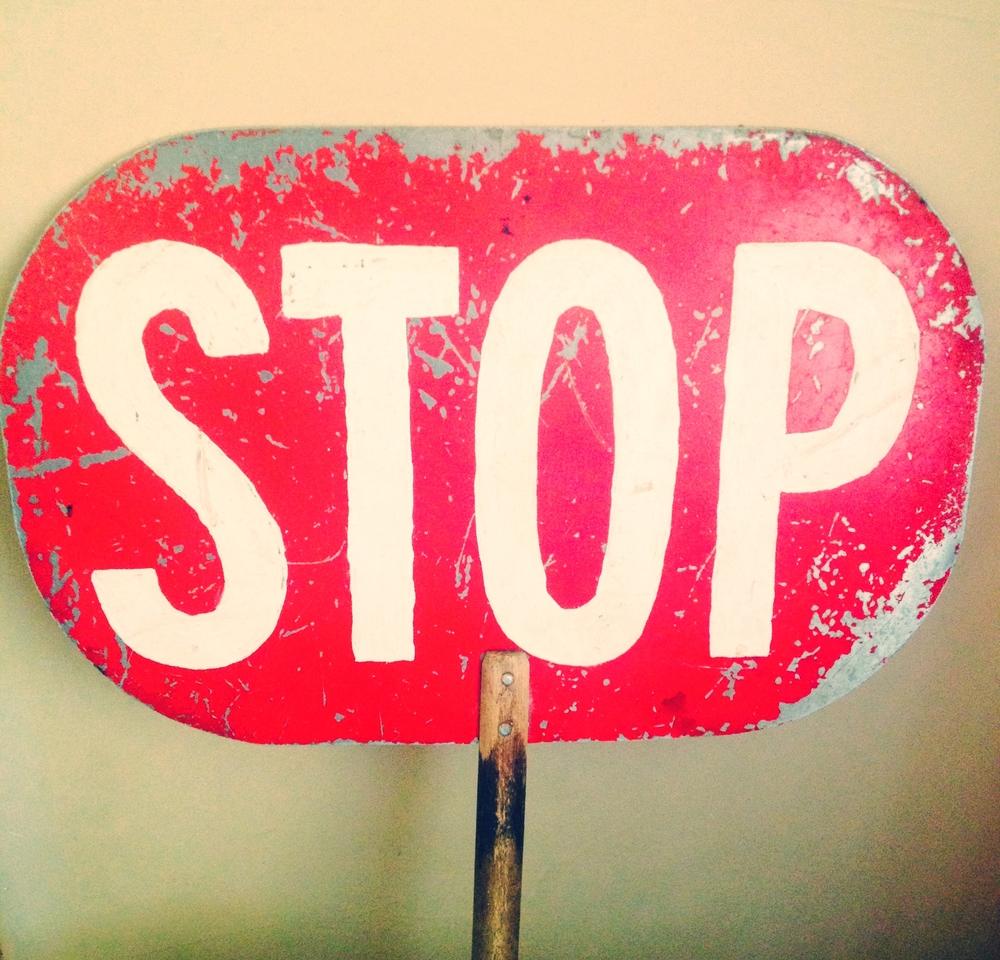 Vintage STOP Sign $15