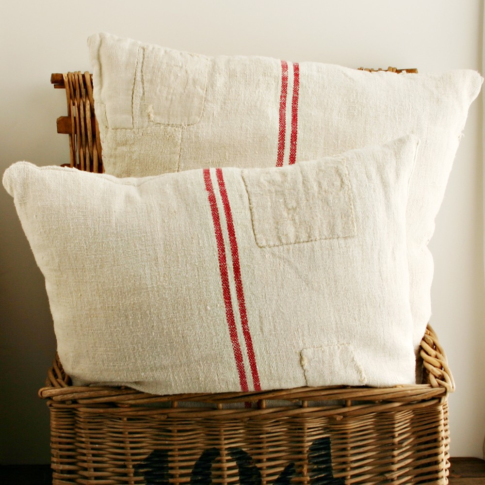 Grain Sack Pillows $10
