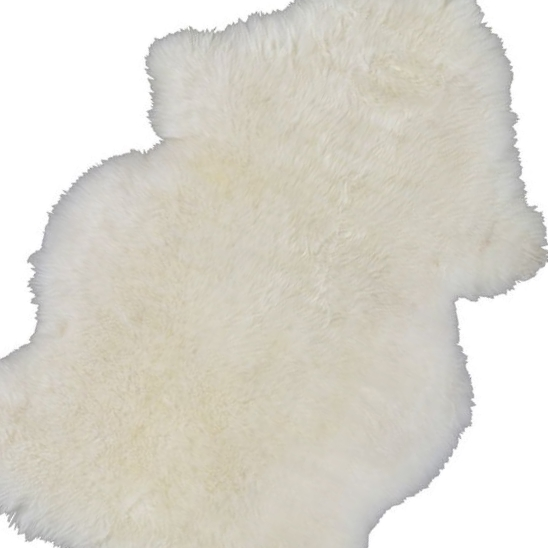 white sheepskin throw $15