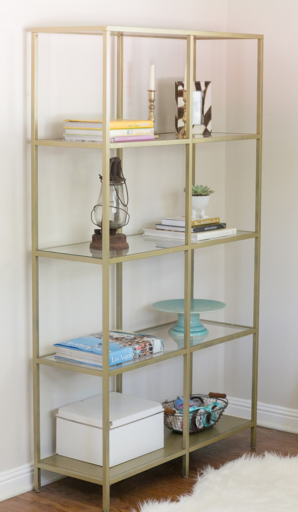 Gold + Glass Shelving $65 (3)