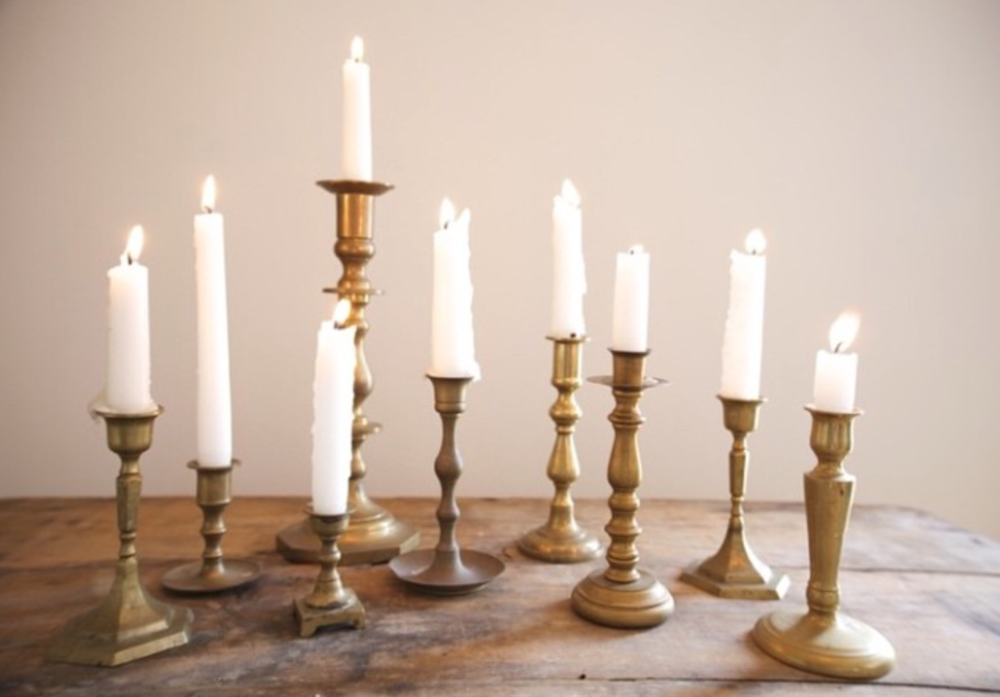 Vintage Brass Candlesticks $5