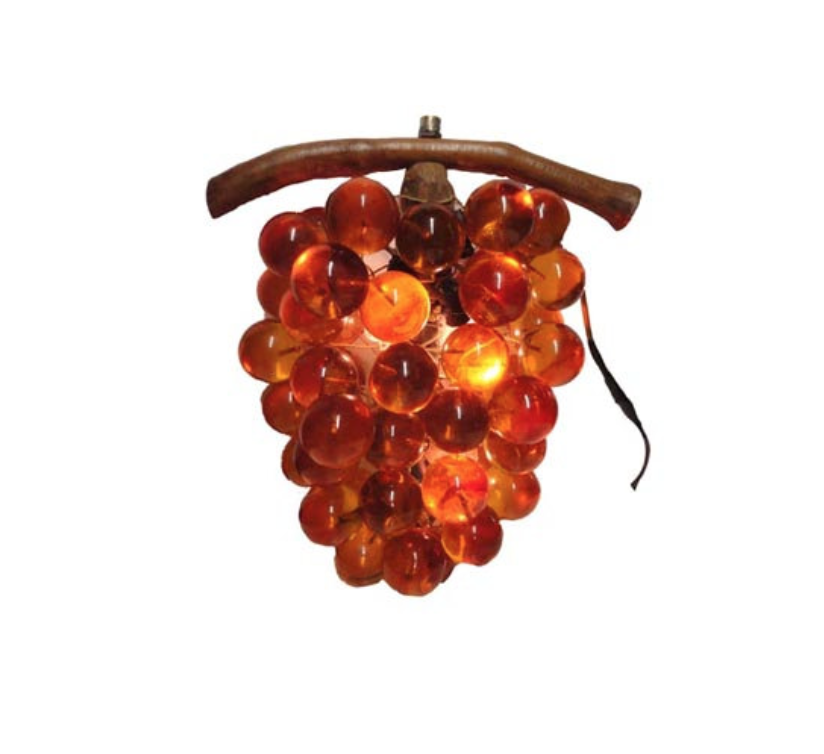 XL Vintage Amber Grape Cluster Light $25