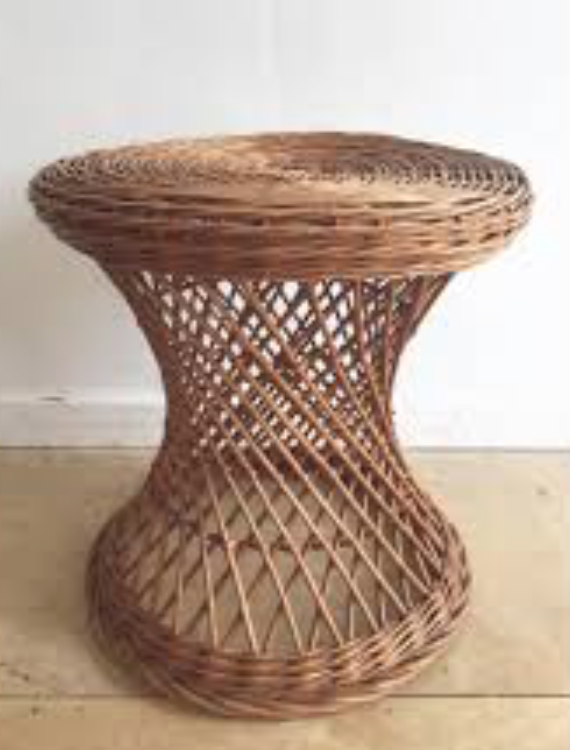 Vintage Wicker Side table (2) $35