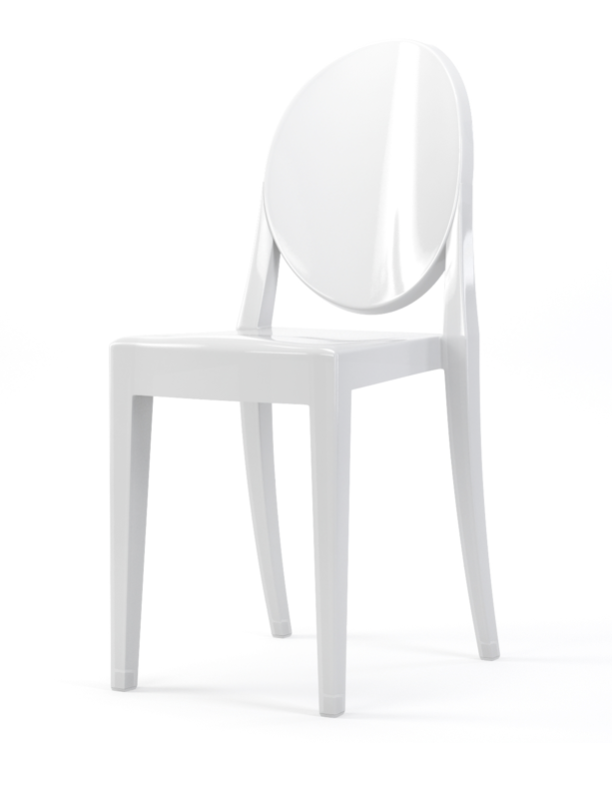 White Lucite Chair (4) $25