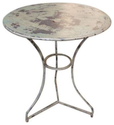 vintage metal side table $35