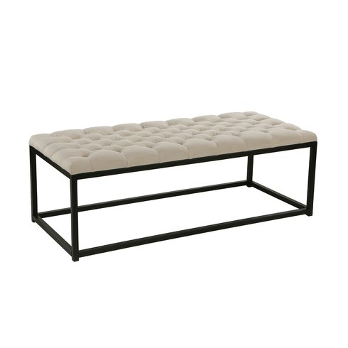 Katie Tufted Upholstered Bench (2)