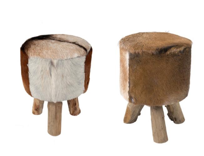 cowhide stools (2) $30