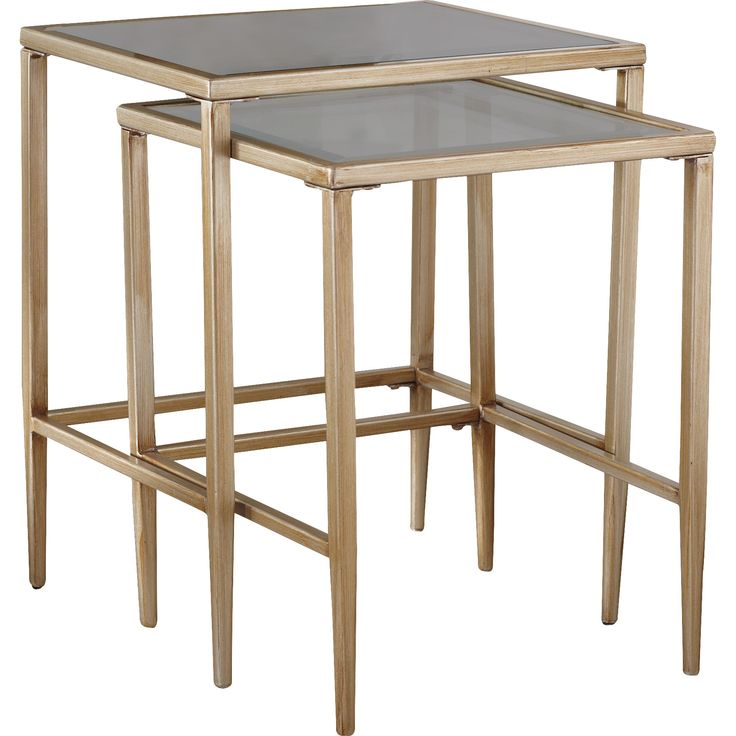 gold nesting tables $35