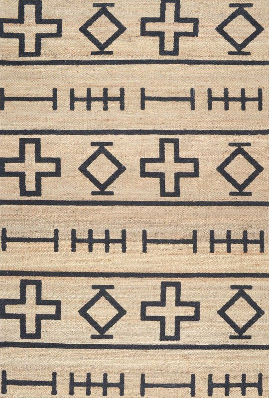 Tribal Print Natural Rug 5x8 $65