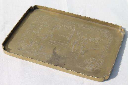 Small Brass Tray $10