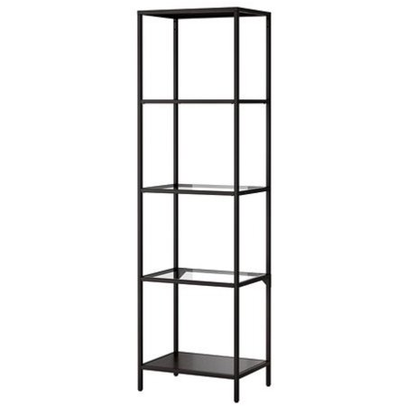 Black + Glass Shelves (3) $65