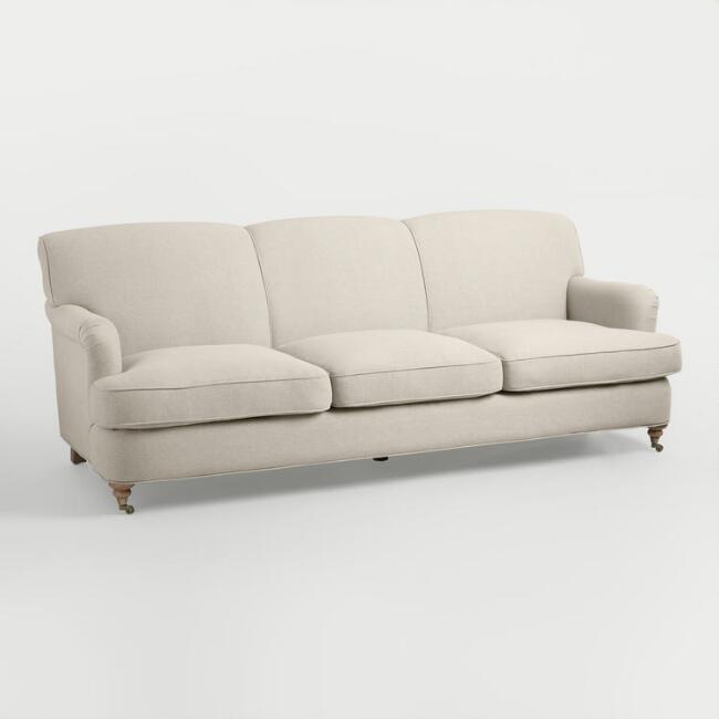 Britta Linen Sofa $325