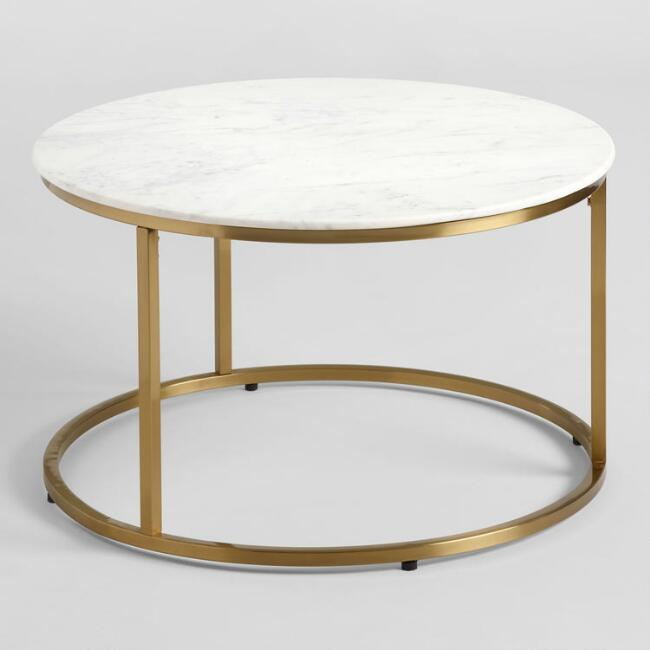 Marble Top Coffee Table (2)$65