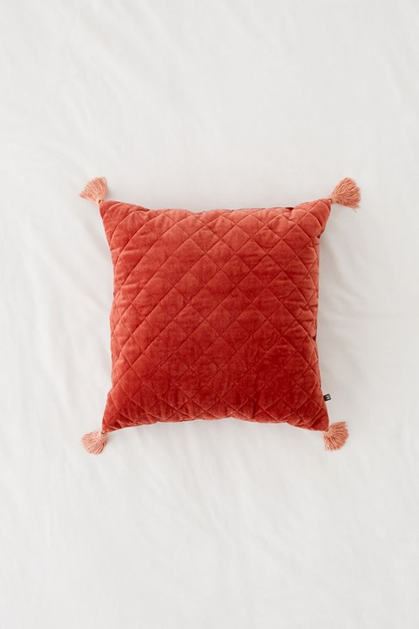 Rust Tassel Pillow (2)