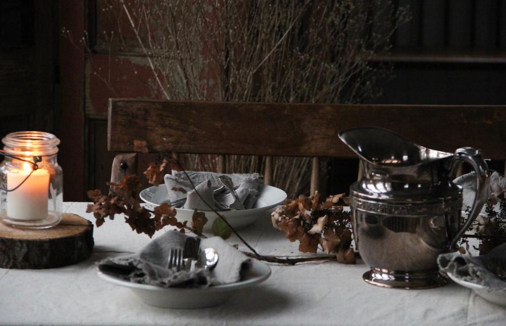 rustic table top detail