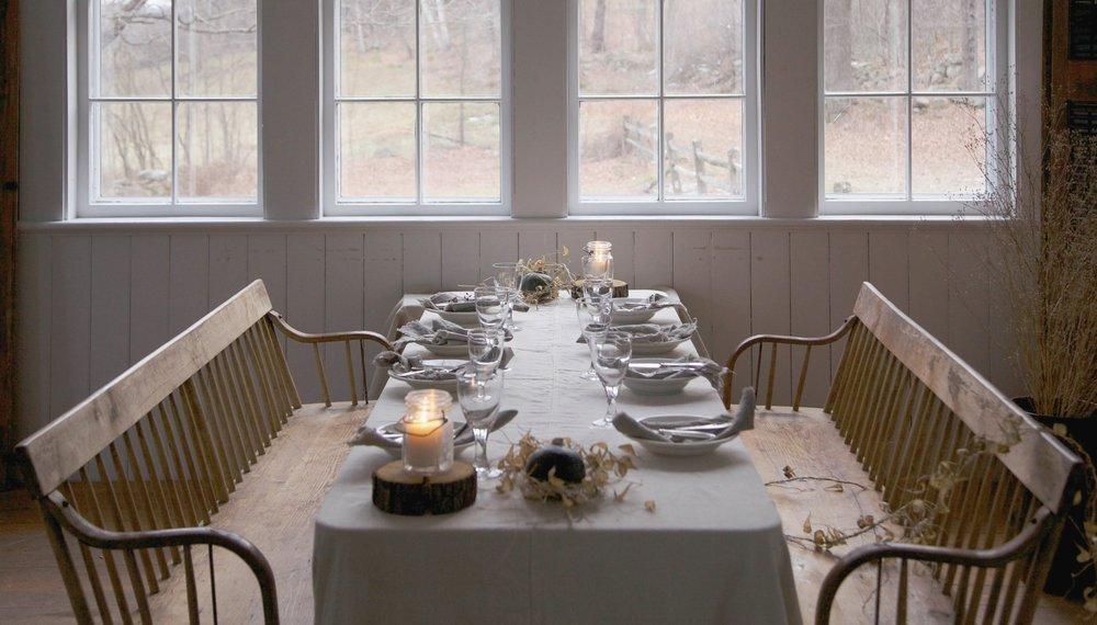 rustic fall table setting