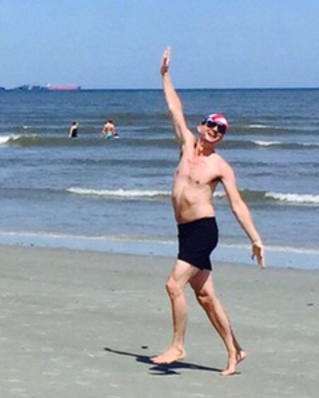 No caption. #flauntitifyougotit #joy #usa #georgia #peach #boy #beach #boy #shirtless #man #shirtlessguy #swimsuit #believingisbelieving #savannah #tybee #tybeeisland #tybeeislandbeach #jellyfish #happy #happyboy