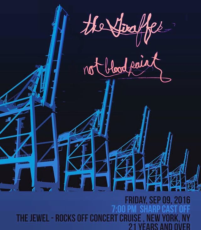 Next Friday! 9/9, our last show of 2016 is on a boat with @thegiraffesrule Get your tix now! (Link in bio) @rocksoffnyc #thejewel #yachtrock #boat #livemusic #concert #concertcruise #bands #rock #rocknroll #eastriver #rocksoff #nyc #believingisbelieving #bewithus #guitars #music #singers #harmony #ondeck #goodtimes #badtimes #boattimes #readyabout