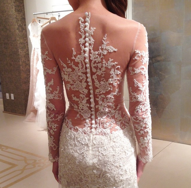 Reem Acra (Photo Courtesy of @lwdbridal on Instagram)