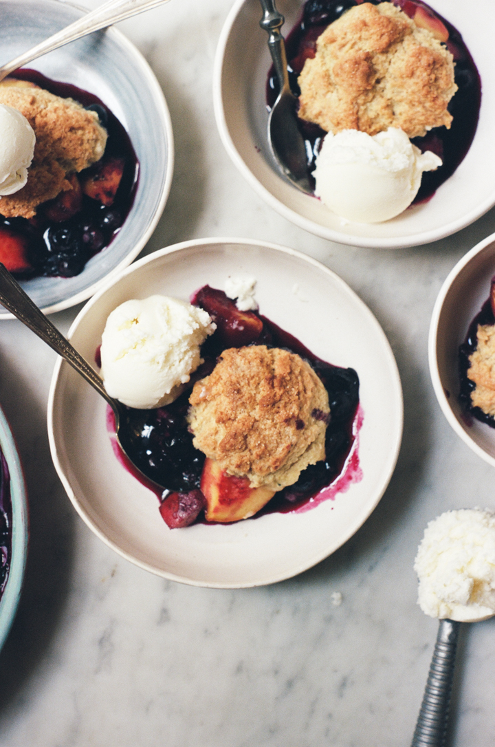 peach and blueberry cobbler | apt. 2b baking co.