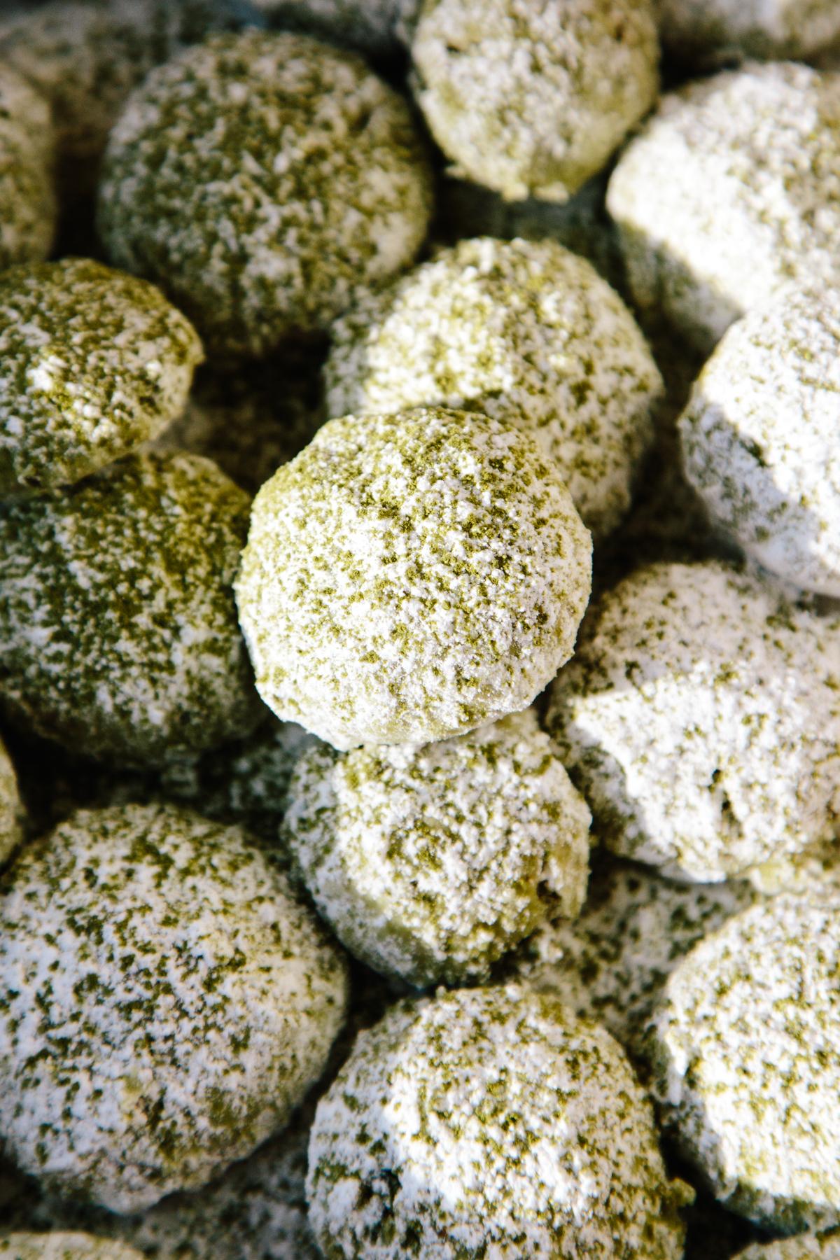 Alanna S Pistachio Lime And Matcha Snowballs Apt 2b Baking Co