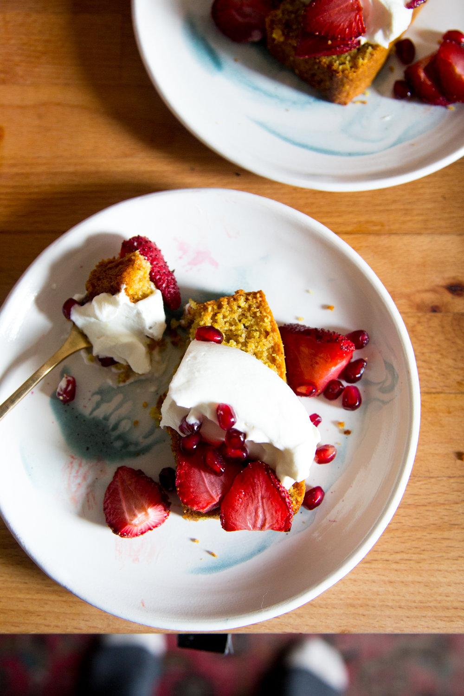 vanilla cornmeal cake - first mess cookbook | apt 2b baking co