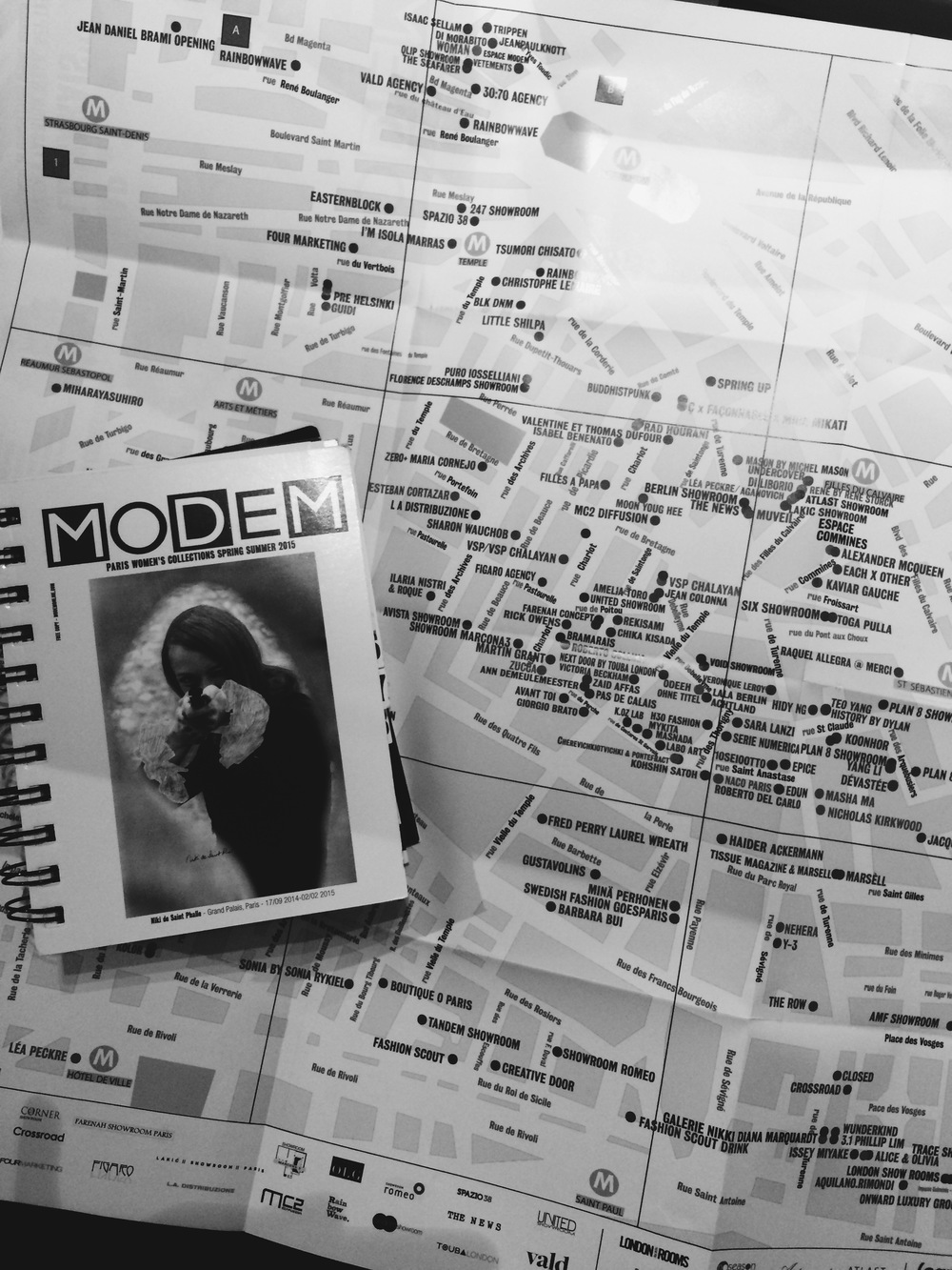 PFW bible - book of shows/events with map