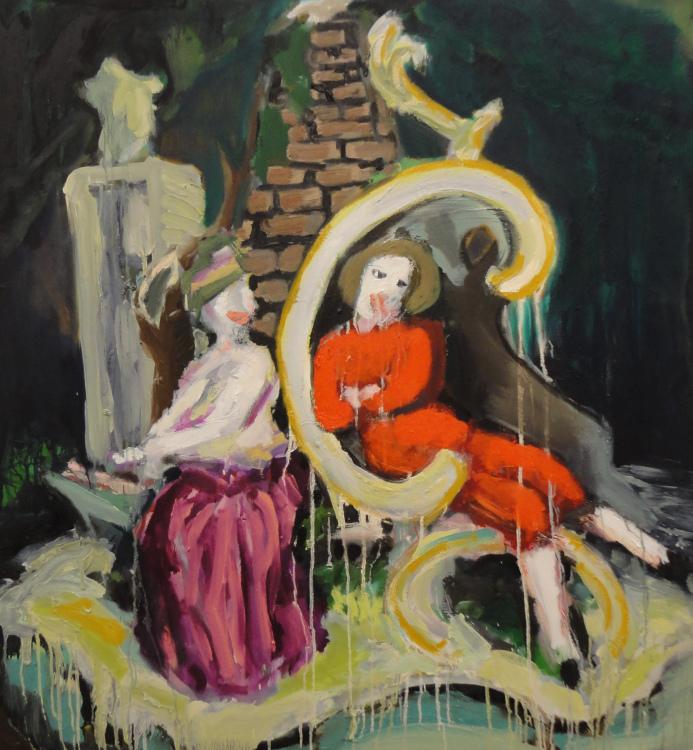 The Arbor  4' x 4.5'  Oil on Canvas