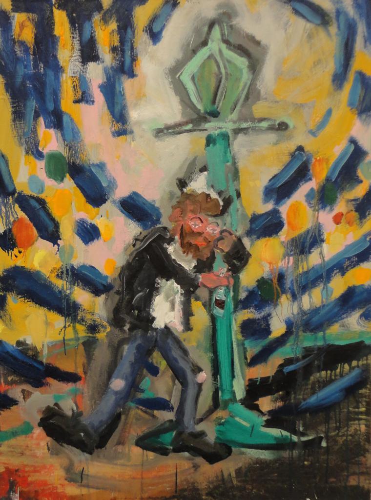 Drunk  3' x 4'  Oil on Canvas