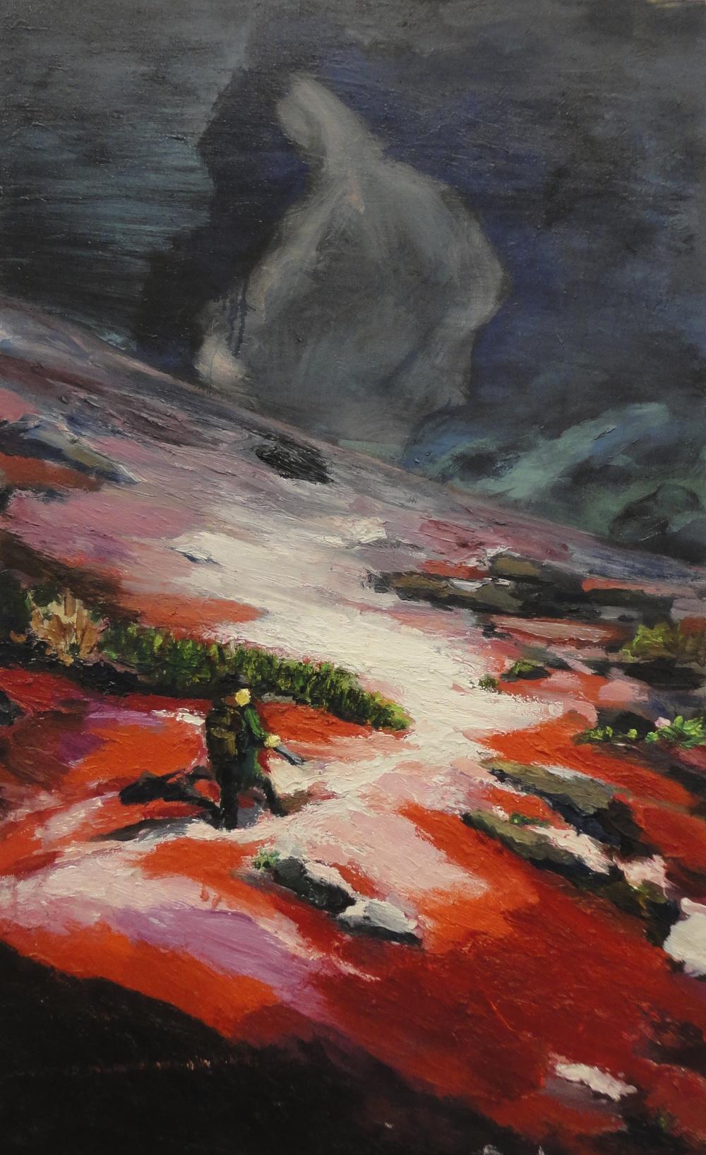 Hunter  2' x 3.5'  Oil on Canvas