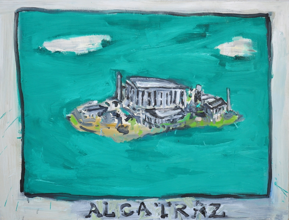"""Alcatraz  36"""" x 48""""  Oil on stretched Canvas"""