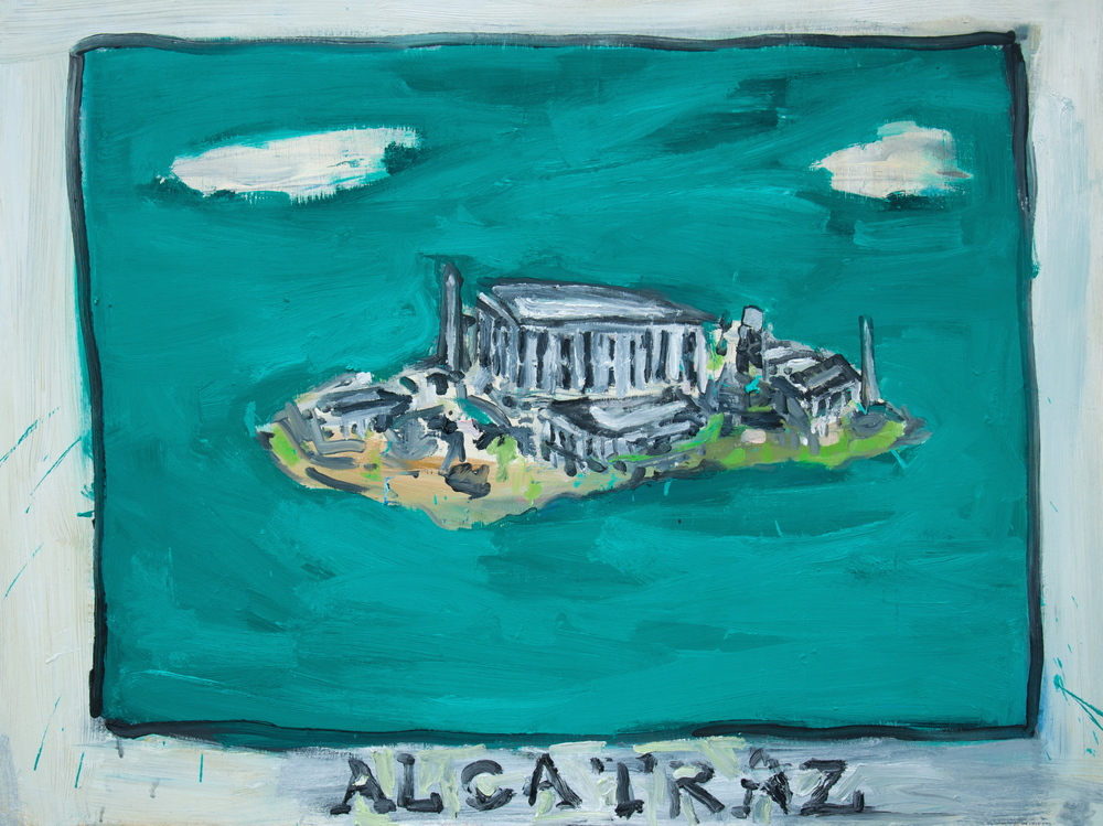 "Alcatraz  36"" x 48""  Oil on Canvas"