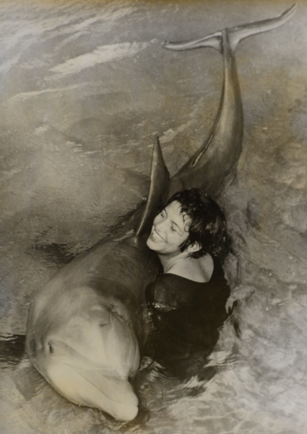 Margaret Howe and Peter; her student Dolphin