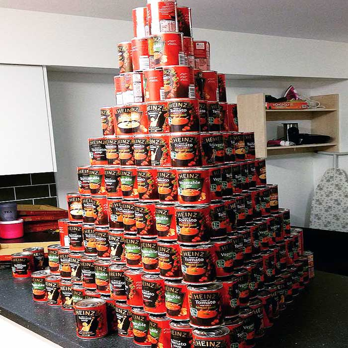 Jake Joness won 365 cans of Heinz Soup