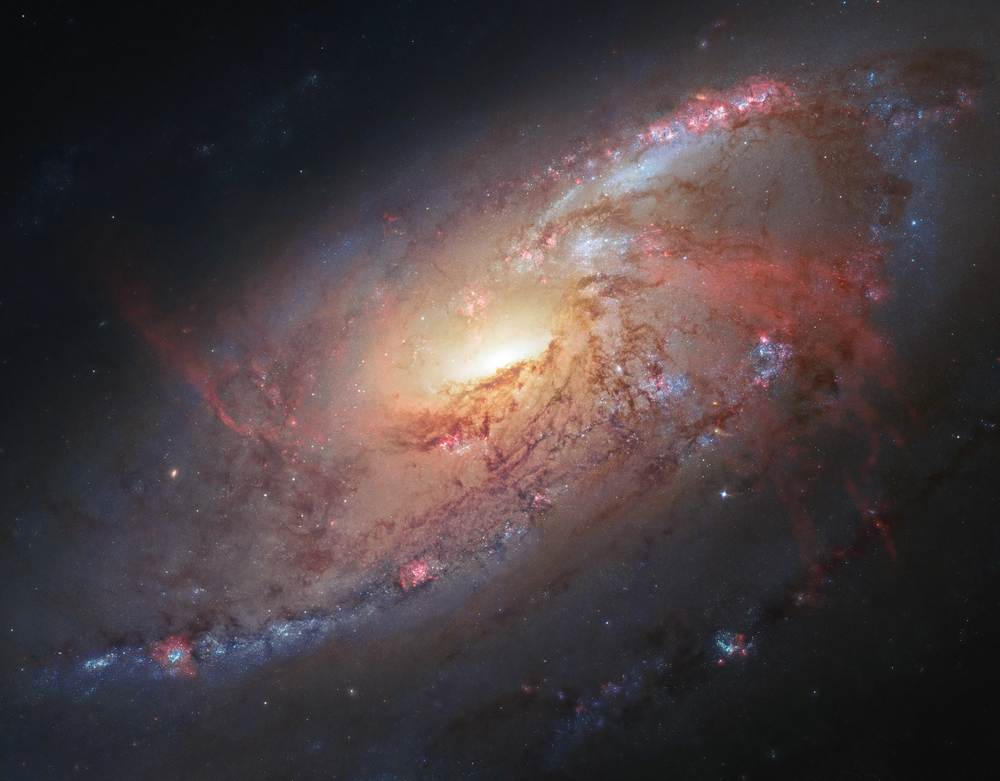 Spiral Galaxy - Image captured by the Hubble Space Telescope