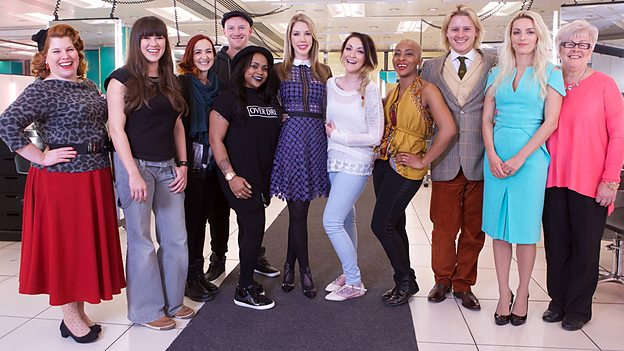 The contestants in HAIR 2015, BBC Two