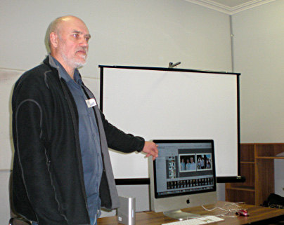 Peter Ward demonstrating Aperture at our first meeting