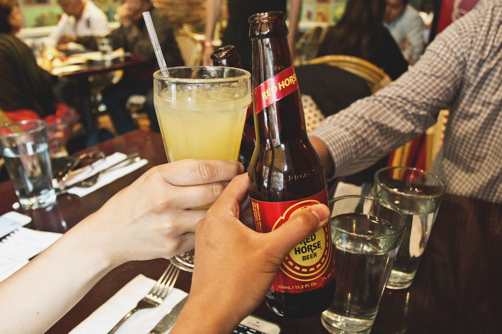 Calamansi Juice or a Red Horse Beer