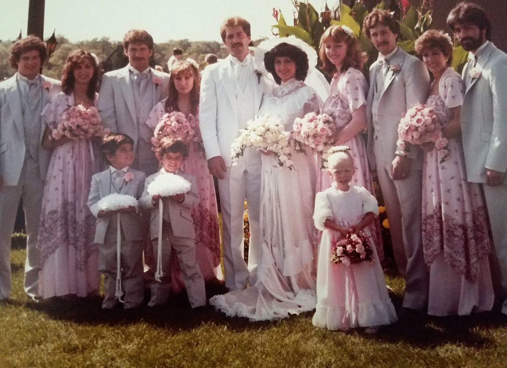 My wedding in 1981.