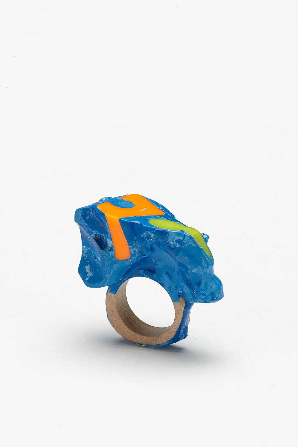 Orange and Tiny Lime Green 1, 2012. Resin, Timber, Plastic Toys. Photo by Jeremy Dillon.