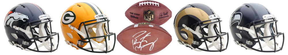 NFL TEAM SHOP! ORDER HELMETS & FOOTBALLS! FREE SHIPPING! Plan you signings this year and order quality items for your collection!